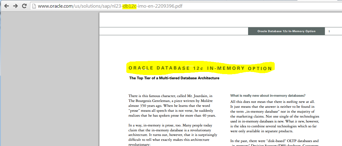Oracle Database 12c Release 12.1.0.2 – My First Observations. Licensed Features Usage Concerns – Part I.
