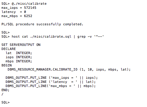 Yes, You Must Use CALIBRATE_IO  No, You Mustn't Use It To