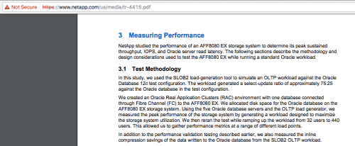 Figure 4: NetApp Testing the AFF8080 with SLOB