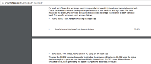 Figure 5: NetApp Testing NetApp Private Storage for SoftLayer with SLOB
